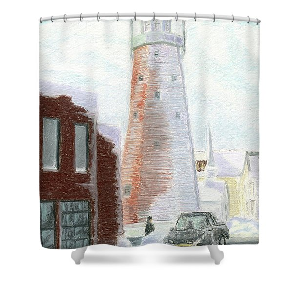 Winter On Munjoy Hill Shower Curtain