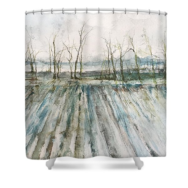 Winter On The Delta Shower Curtain