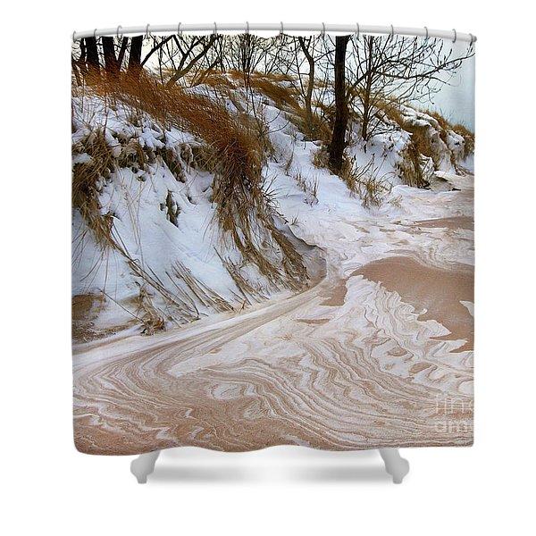 Winter Paints Shower Curtain