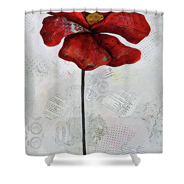 Winter Poppy I Shower Curtain