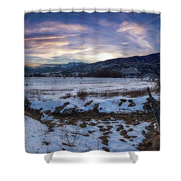 Sunset Range Shower Curtain