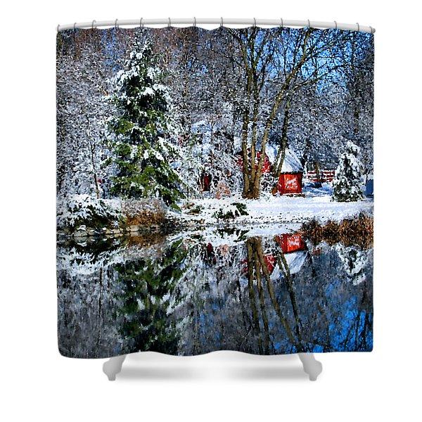 Winter Reflection Shower Curtain
