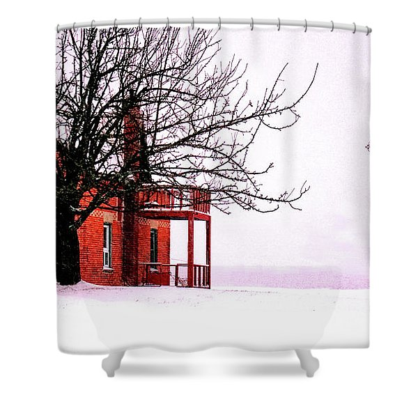Winter Retreat Shower Curtain