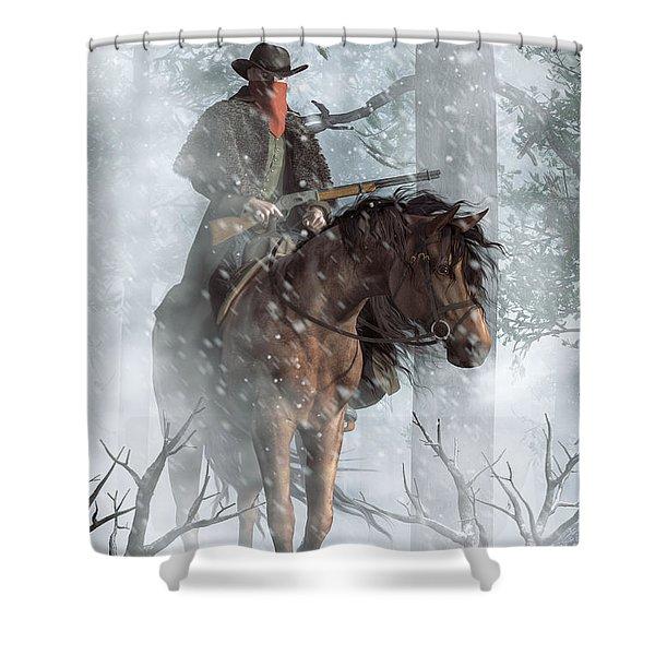 Winter Rider Shower Curtain