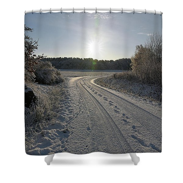 Winter Road Shower Curtain