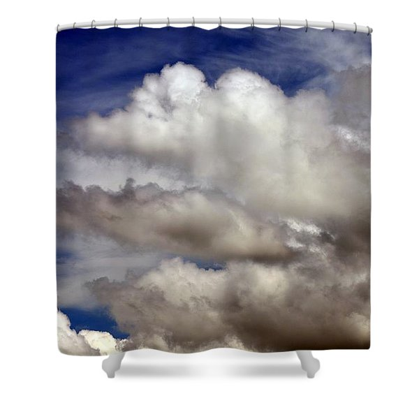 Winter Snow Clouds Shower Curtain