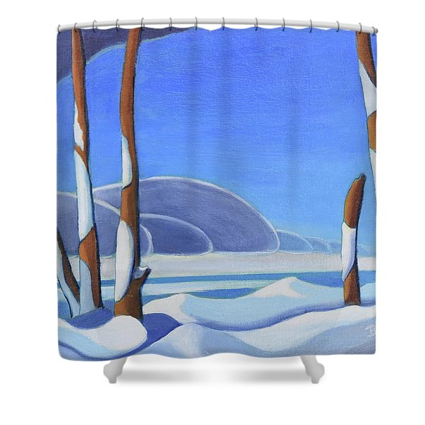 Winter Solace II Shower Curtain