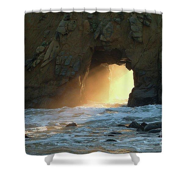 Winter Solstice Sunset In Big Sur Shower Curtain