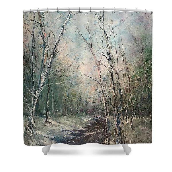 Winter Sojourn Shower Curtain