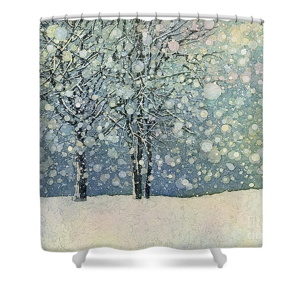 Winter Sonnet Shower Curtain