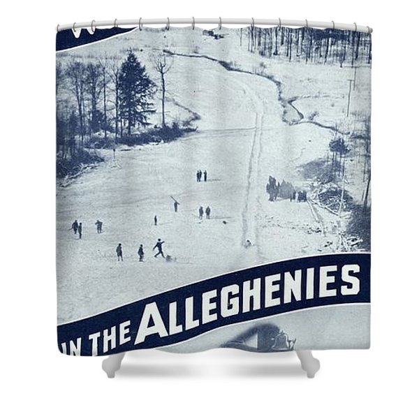 Winter Sports In The Alleghenies Shower Curtain