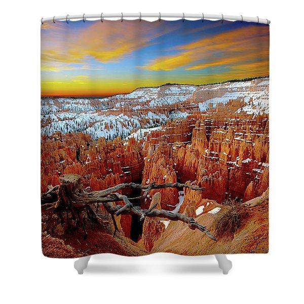 Winter Sunrise At Bryce Shower Curtain