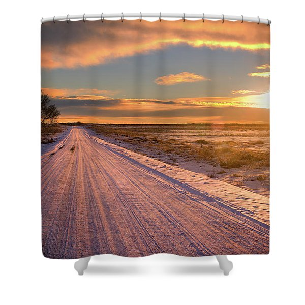Winter Sunrise Light Shower Curtain