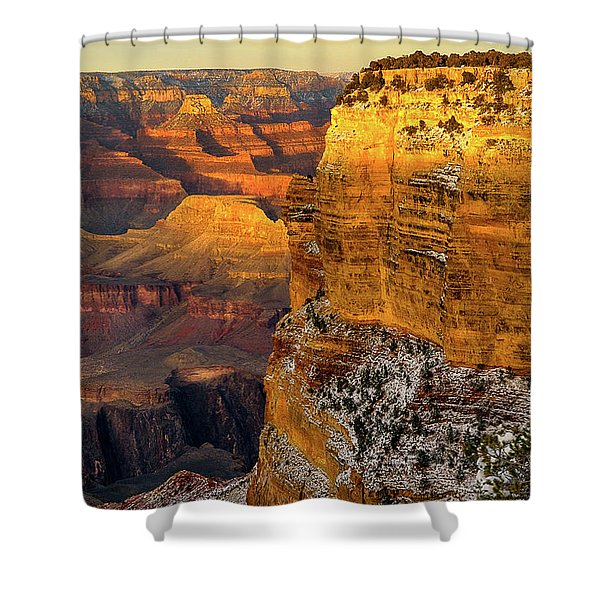 Winter Sunset At The Grand Canyon Shower Curtain