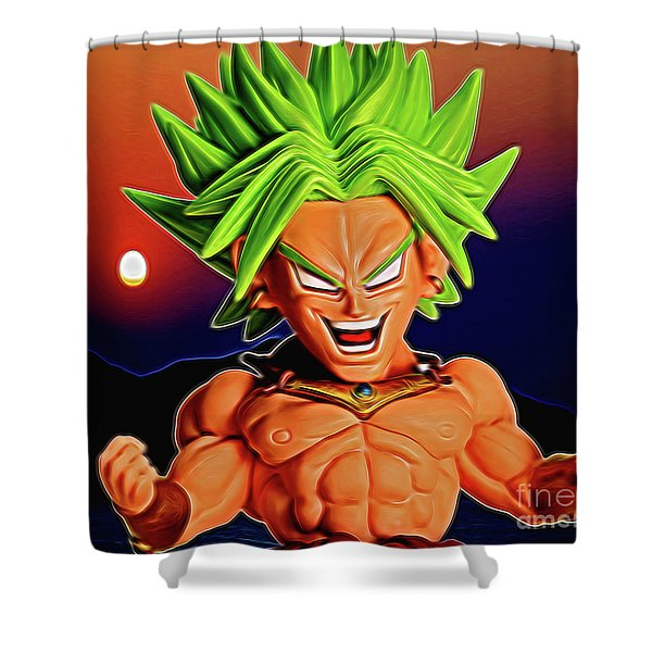 Sunset Ss Broly Shower Curtain