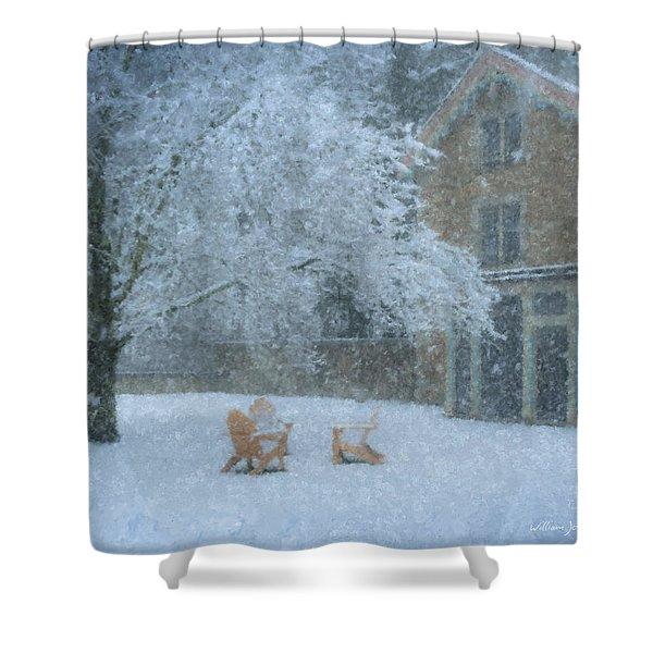 Winter Tea At Queset House Shower Curtain