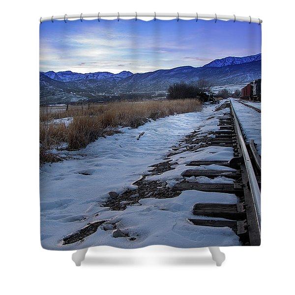 Winter Tracks Shower Curtain