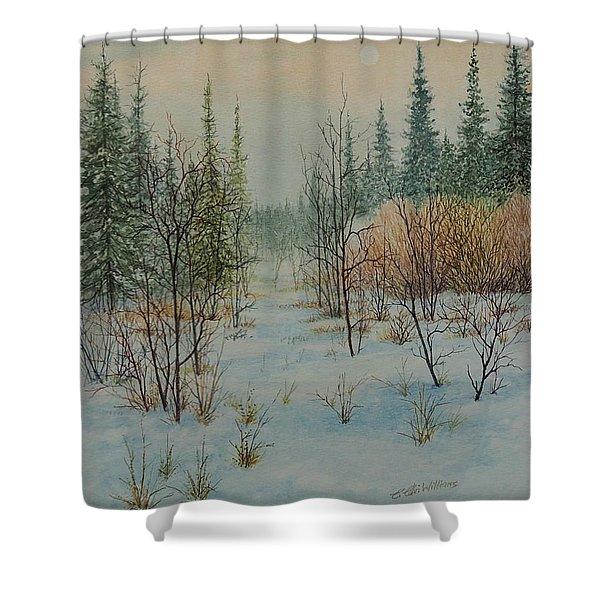 Winter Trail Alberta Shower Curtain