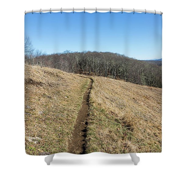 Shower Curtain featuring the photograph Winter Trail - December 7, 2016 by D K Wall