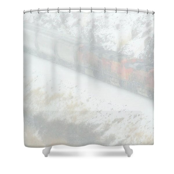 Winter Train Shower Curtain