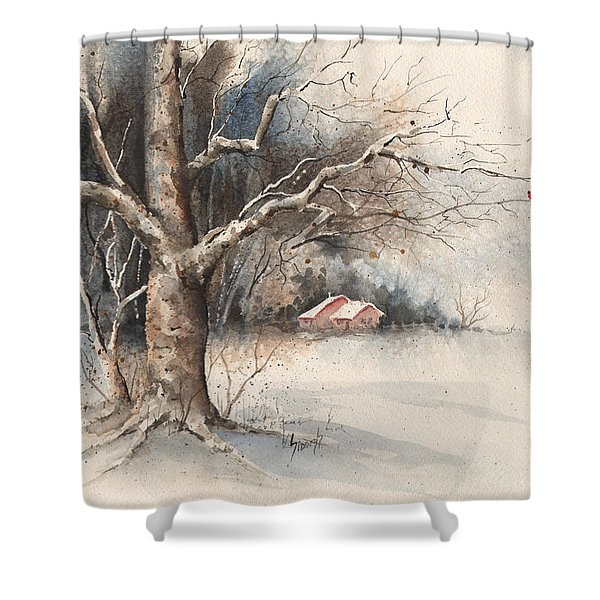 Winter Tree Shower Curtain