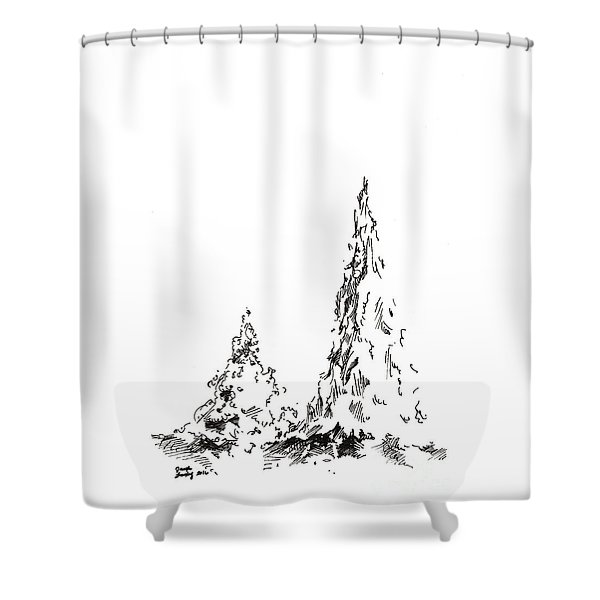 Winter Trees 2 - 2016 Shower Curtain