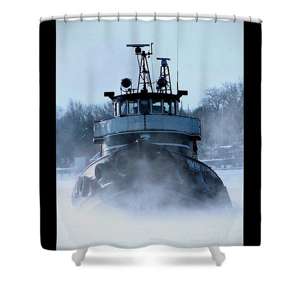 Winter Tug Shower Curtain