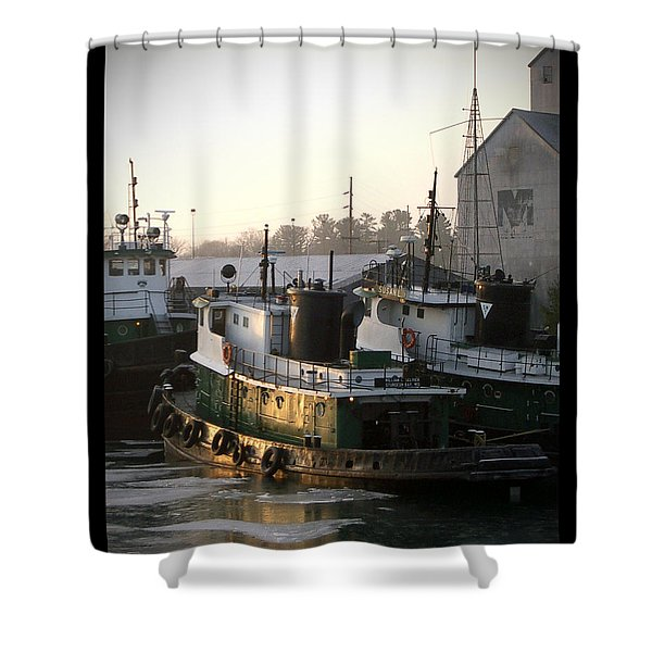 Winter Tugs Shower Curtain