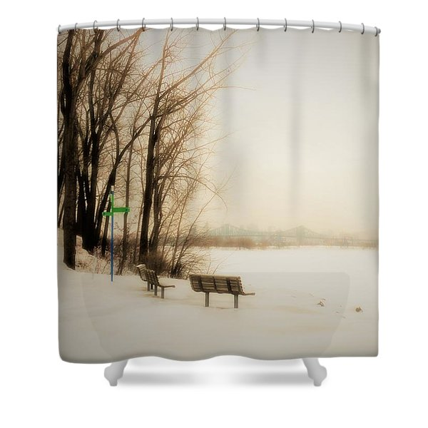 Winter View Over Montreal Shower Curtain