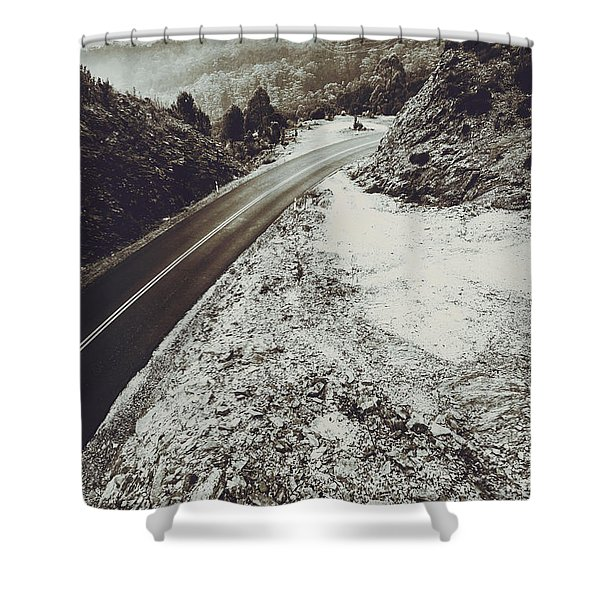 Winter Weather Road Shower Curtain