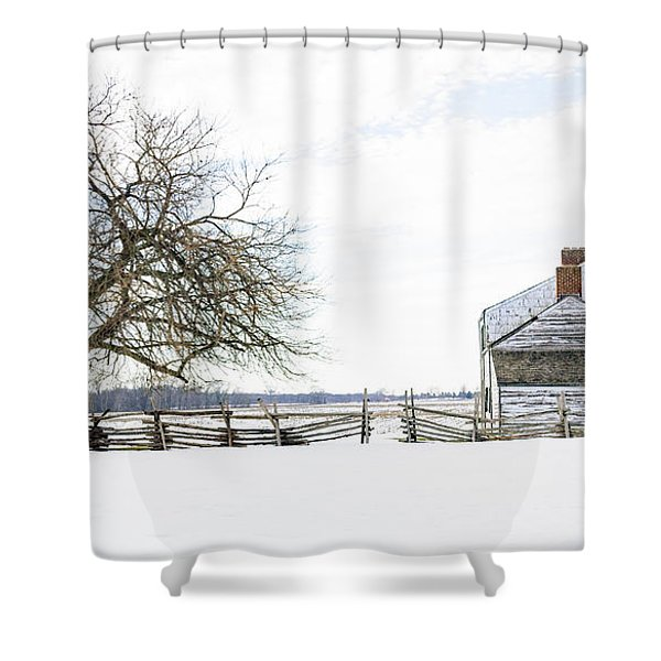 Winter White Out Shower Curtain