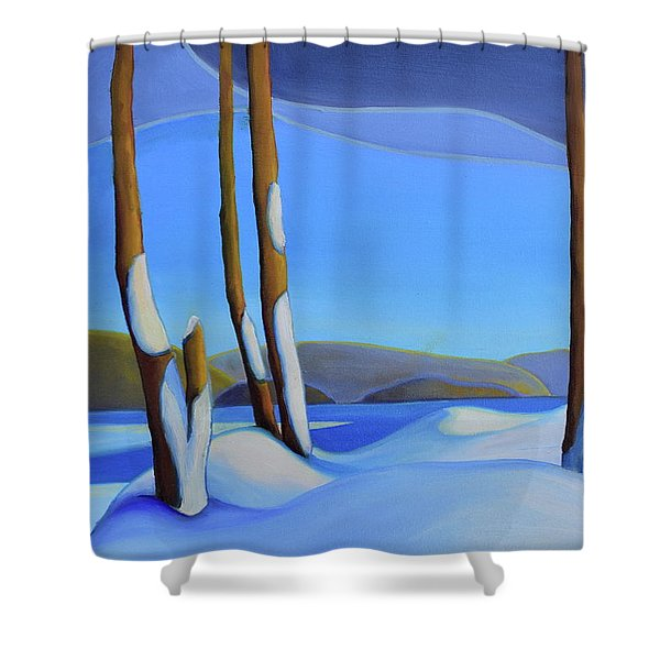 Winter's Calm Shower Curtain