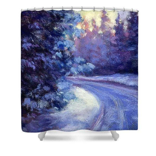 Winter's Exodus Shower Curtain