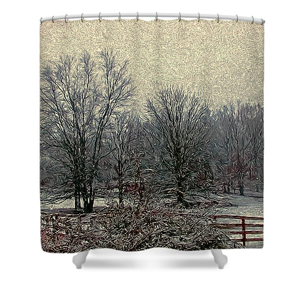 Winter's First Snowfall Shower Curtain