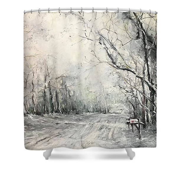 Dee Street Series Winter Wonderland Shower Curtain