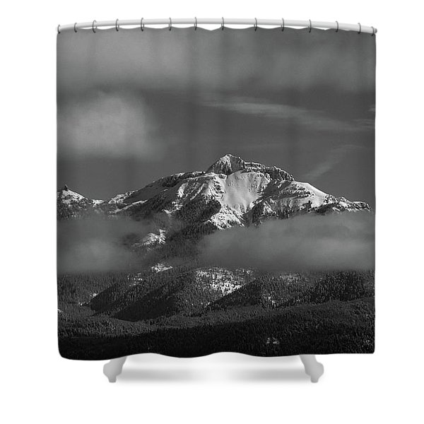Shower Curtain featuring the photograph Winter's Window by Jason Coward