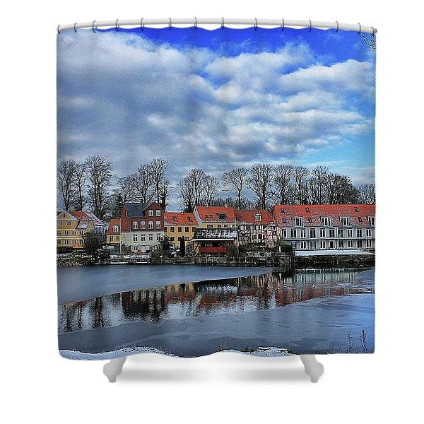 Wintry Nyborg Shower Curtain