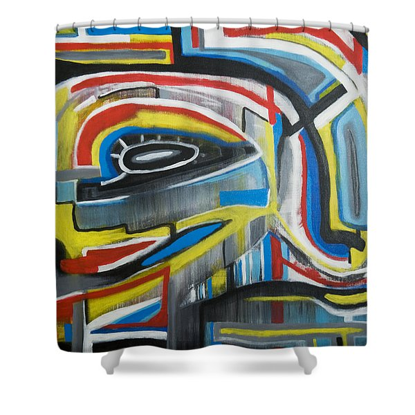 Wired Dreams  Shower Curtain