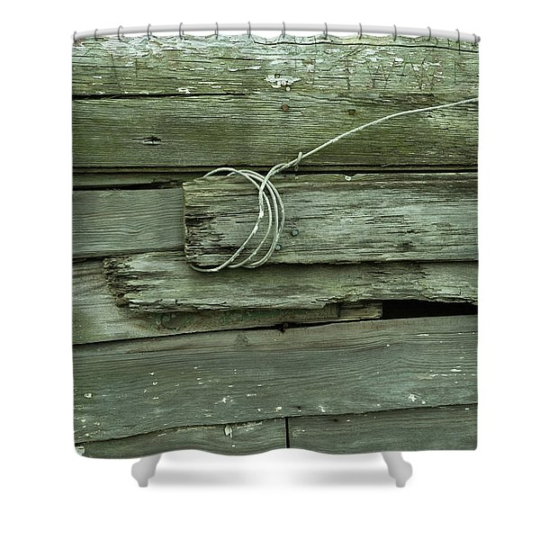 Wired House Siding Shower Curtain