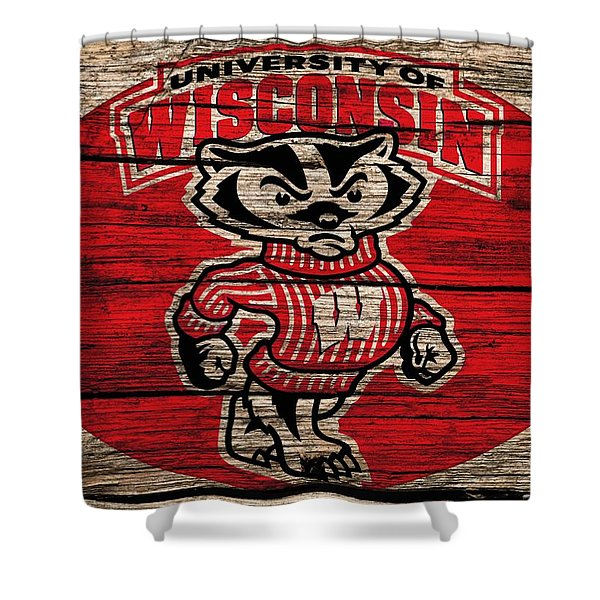 Wisconsin Badgers Barn Door Shower Curtain