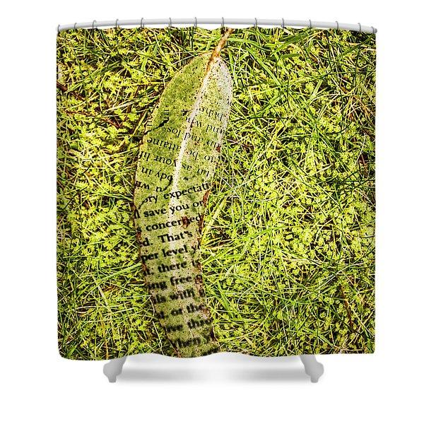 Wisdom In Nature Shower Curtain