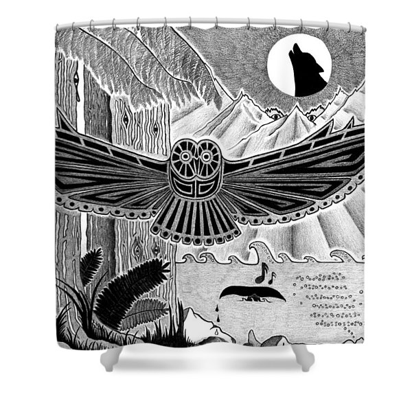 Wisdom Of The Ancestors  Shower Curtain