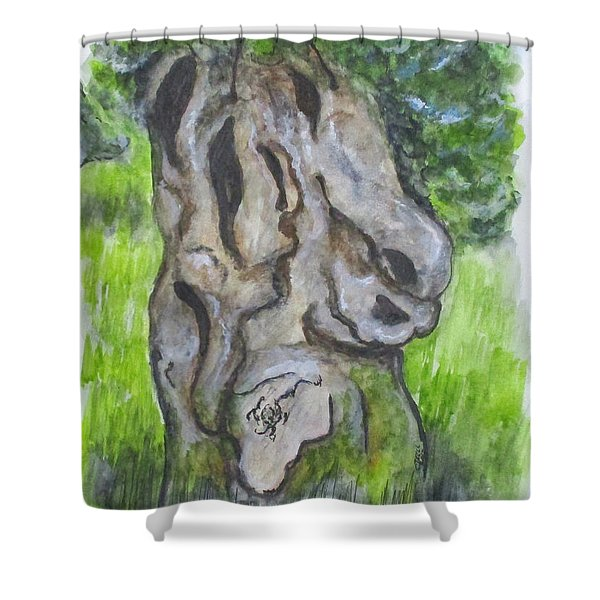 Wisdom Olive Tree Shower Curtain
