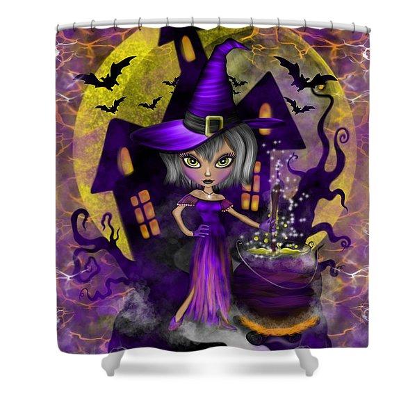 Wisdom Witch Fantasy Art Shower Curtain