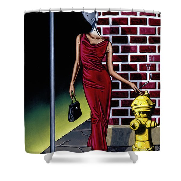 Wishbone Alley Shower Curtain
