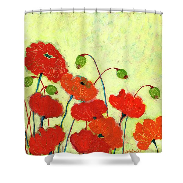 Wishful Blooming Shower Curtain