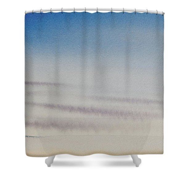 Wisps Of Clouds At Sunset Over A Calm Bay Shower Curtain