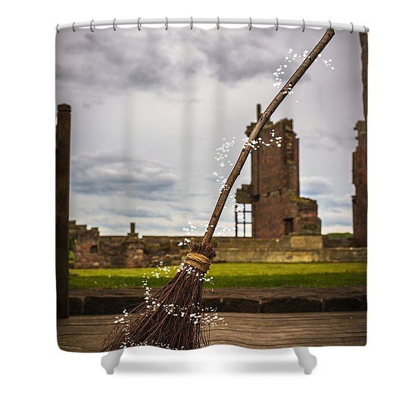 Witches Broom Shower Curtain