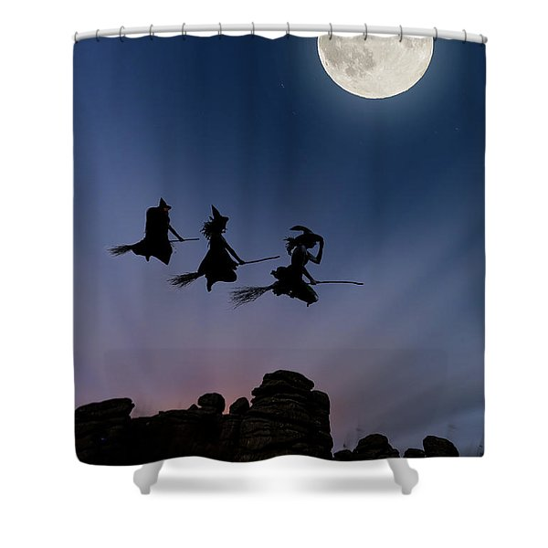 Witches Over Combstone Tor Shower Curtain