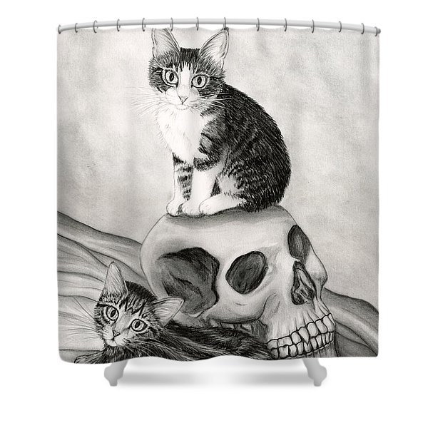Witch's Kittens Shower Curtain